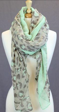 Mint leopard scarf! :)