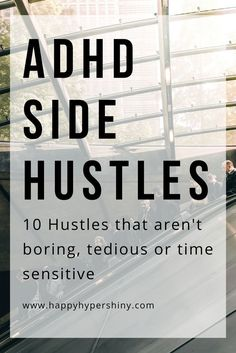 The best ADHD Side Hustles ADHDers often have a hard time getting or keeping a job. Being your own boss if something we all dream about. With these side hustles you very well could. Adhd Brain, Adhd Help, Adhd Strategies, Adult Adhd, Adhd Kids, Aspergers, Extra Money, Extra Cash, Good To Know