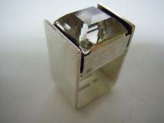 Finland. Maker unknown. Sterling and Rock Crystal Ring. 1976