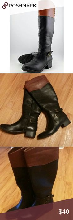 Adorable wide calf boots!!! Super cute wide calf boots from rampage! Originally $85 boots! Only worn once inside for like 30min..the calf isn't as wide as I need it unfortunately!! Rampage Shoes Winter & Rain Boots