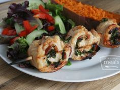Gluten Free Dairy Free Chicken Pinwheels | OAMC from Once A Month Meals