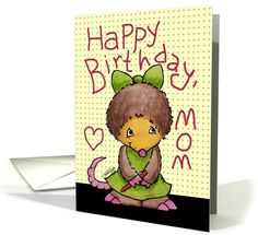 Happy Birthday for Mom- Mollie Mole Connects the Dots card