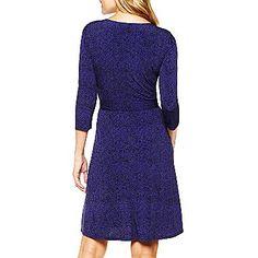 Liz Claiborne® Printed Wrap Dress - jcpenney