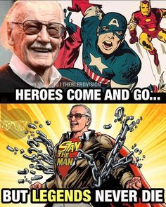 I know I've already posted this, but Stan Lee is an amazing man who deserves the effing world! I could never live without marvel and he's the man who made it. Funny Marvel Memes, Marvel Jokes, Dc Memes, Avengers Memes, Marvel Comics, Marvel Heroes, Marvel Avengers, Choses Cool, Gi Joe