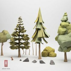 check out these paper trees