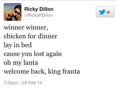 Connor franta tweet of Ricky Dillon account