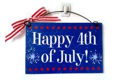 Happy 4th of July mini sign.
