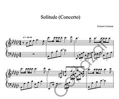 Sol'itude (Concerto) - Composed by Ernesto Cortazar Free Music Streaming, Online Music Stores, Transcription, Piano Sheet Music, Words, Musica, Piano Score, Sheet Music For Piano, Horse