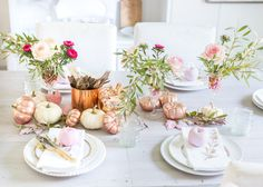 I love the timeless look of copper and have incorporated into a few tablescapes in the past. But most recently there has been a new classic popping up: Rose gold. Rose gold is like a modern ...