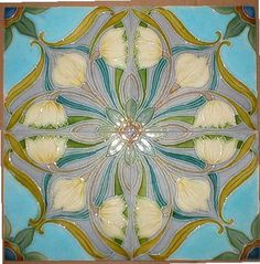 """Inspiration for stenciled """"chair rail""""  or """"wainscoting"""" or ceiling medallion. West Side Art Tiles"""