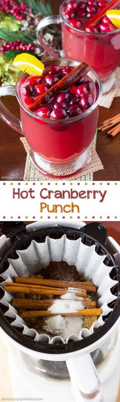 Hot Cranberry Punch- a delicious punch perfect for the Holidays!