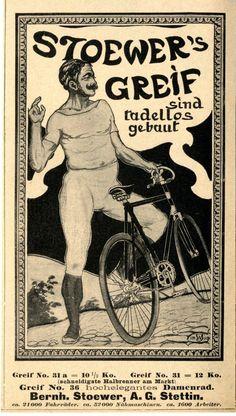 Bernh. Stoewer A.G. Stettin STOEWER`S GREIF DAMENRAD Historische Reklame 1899 | eBay