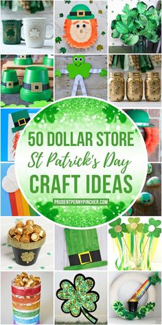 Get crafty for less with these festive dollar store St Patrick's Day crafts. There are craft ideas for kids and adults included here. From leprechaun crafts to shamrock crafts, there are plenty of fun craft projects to choose from. Diy St Patricks Day Decor, St. Patricks Day, St Patricks Day Crafts For Kids, St. Patrick's Day Diy, March Crafts, St Patrick's Day Crafts, Holiday Crafts, Holiday Fun, Holiday Ideas