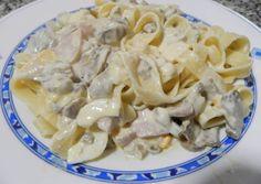 Fetuccini con salsa de Champiñones