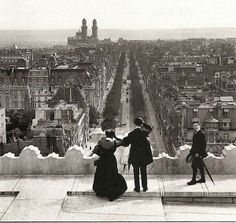 View from the Arc de Triomphe, Paris, in 1900
