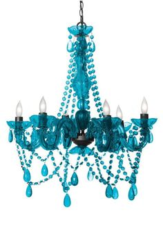 Turn any room into a palace with this six-bulb Turquoise Chandelier lavished with sparkling crystal strands and faceted drops. Easy installation and an extra-long cord allow it to be hung anywhere … Turquoise Chandelier, 3 Light Chandelier, Beaded Chandelier, Chandeliers, Shabby Chic Bedrooms, Shabby Chic Decor, Teal Shower Curtains, House Of Turquoise, Beach Cottage Decor