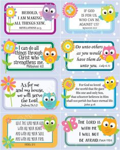 Mothers Day Crafts For Kids Discover Scripture memory cards for kids. 24 Bible verse cards for Children. Bible verse for Sunday school church. Bible Verses For Kids, Verses For Cards, Bible Lessons For Kids, Scripture Cards, Quotes For Kids, Kids Memory Verses, Quotes Children, Preschool Bible Verses, Bible Activities For Kids