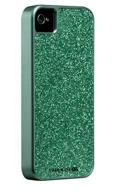 Case-mate goes glam! Sparkle without the Real Housewives-esque crystals (ha.)  ~ It's green!!! lol ~