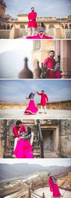 Candid Couple Shot - Bride in a Pink and Blue Sequinned Lehenga and Groom in a Pink and White Suit. Pre Wedding Poses, Wedding Couple Poses, Pre Wedding Photoshoot, Wedding Couples, Wedding Shoot, Post Wedding, Wedding Outfits, Wedding Makeup, Wedding Ideas