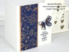 Sandra Ronald, Artypapercrafters.com Beautiful Copper Embossed and Foiled Card -Stampin' Up