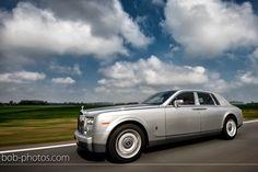 Trouwvervoer zilver grijze Rolls Royce Phantom Bob-photos.com