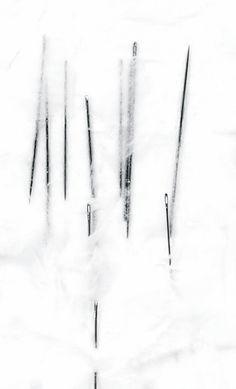 Safâa Erruas |  Sombras palidas, 2010 | Needles, Japanese paper and cotton paper on paper