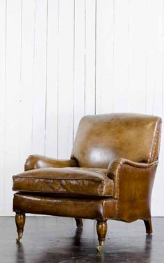 The softer the leather, the better it is... you can just sink into the suppleness. Ralph Lauren Home - RLH Furniture New Collection