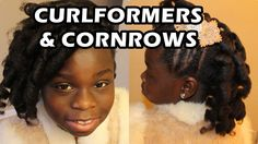 How to do Spiral Curls  with Cornrows using CurlFormers on Natural Hair
