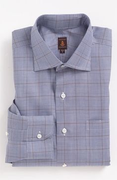 The plaid in this Robert Talbott dress shirt compliments any and all browns and beiges.
