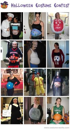 Halloween Costume Ideas for Pregnant Women the first basketball one <3 good to have one day