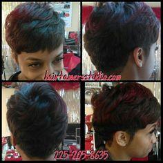 Short hair , cute cut , haircut , hairstyle , red hair Hair Tamers Studio #louisiana #hairsalon