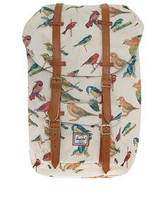 Cream Little America Woodlands Bird Print Rucksack