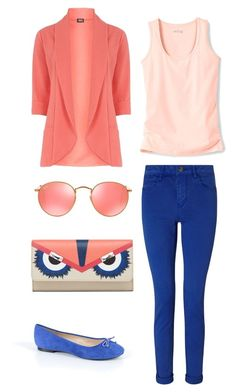 """daily look"" by martyna10146 on Polyvore featuring moda, Fever Fish, Maison Scotch, ShoeMint i Ray-Ban"