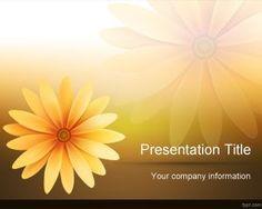 Plantilla PowerPoint de Flores Margaritas
