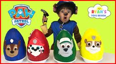 awesome Paw Patrol Play Doh Surprise Eggs Toys for Kids! Chase Marshall Rubble Kids Costume