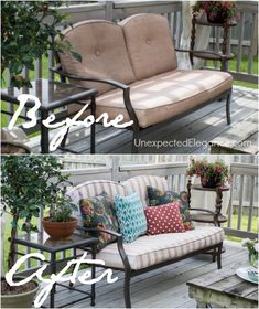 Frog Tape Patio Furniture Makeover... I Originally Wanted To Recover The  Cushions,