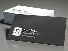 Modern Professional Monogram Black White Business Card Templates