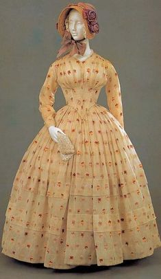 antique dress 1850