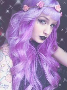 Purple hair by gloriaU