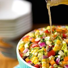 Chopped Mexican Salad, the freshest, most delicious salad bursting with south-of-the-border flavor!