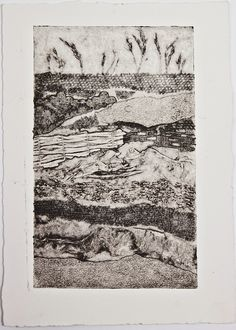 "Collagraph print ""Earth Layers I"" by Fenfolio"