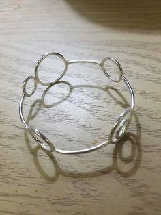Handmade Sterling Silver Orbit Bangle