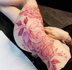 100 Eye Catching Pink Tattoos That Will Inspire You To Get Inked - Millions Grace Rosa Tattoos, Leg Tattoos, Body Art Tattoos, Girl Tattoos, Tattoos For Guys, Tattoo Arm, Tatoos, Pink Tattoo Ink, Pink Flower Tattoos