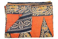 color idea  Kantha Handstitched Quilt, Caprice (by  Karma Living)