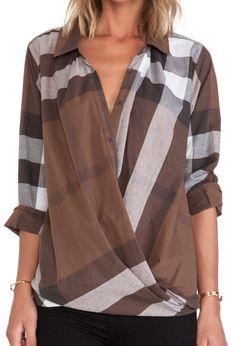 pretty brown drape top