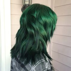 Forest green hair with pravana vivids
