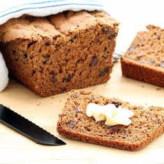 Gluten-free Cinnamon Raisin Bread combines the cozy taste of cinnamon and raisins with the tender, chewy nooks and crannies of traditional bread! (Vegan)