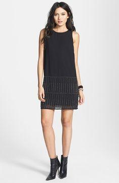 embellished hem shift dress / astr