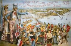 Poster advertising the World's Columbian Exposition, Chicago 1893