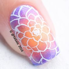 #macroshot Stamping nail design with stamping plate ÜC Uber Mini: Succulents @uberchicbeauty Kaleidoscope No.I-08, No.I-10, No.I-09; Special paint Kaleidoscope No.st-02 white, No.stf-311 Melody Mermaids @el_corazon_shop . . #макро Стэмпинг с плиткой ÜC Uber Mini: Succulents @uberchicbeauty Kaleidoscope No.I-08, No.I-10, No.I-09; краски для стэмпинга Kaleidoscope No.st-02 white, No.stf-311 Melody Mermaids @el_corazon_art_direct